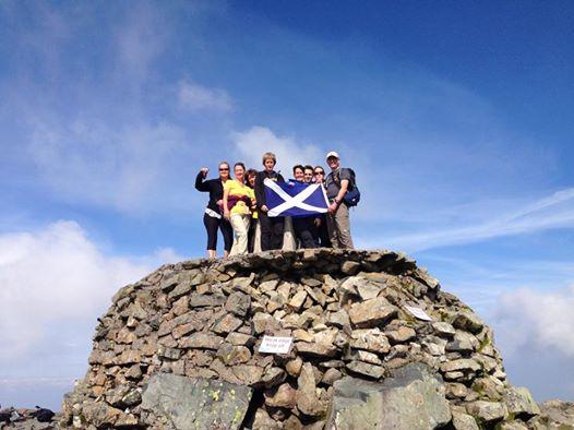 Ben Nevis Three Peaks Team Pose